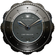 Dragon Clock Widget grey
