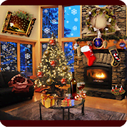 Christmas Fireplace LWP Full