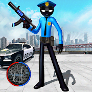 Police Stickman Rope Hero Gangstar Crime Mafia