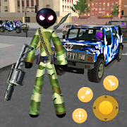 Army Commando Stickman Rope Hero Survival