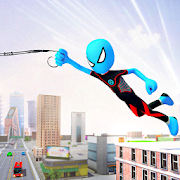 Ice Spider Stickman Rope Hero Gangster City